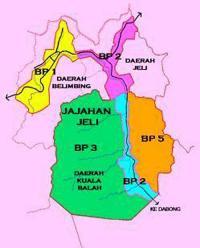 Peta Daerah Jeli Dan Jajahan Jeli
